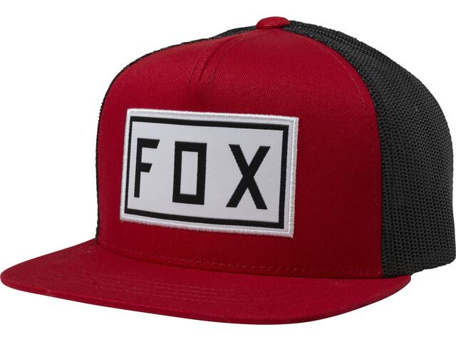 Fox Drivetrain Snapback Snapback Cap Jongeren, chili